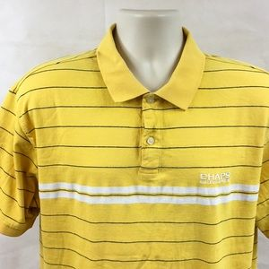 🔥4 for 20 Chaps RL Yellow Striped Polo Shirt